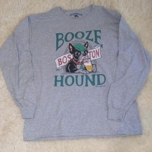 Chowdaheadz Boston Booze Hound Gray Shirt Men's L